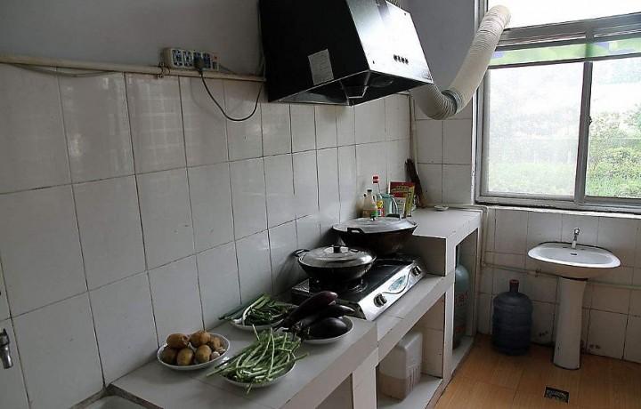 农村柴灶台厨房设计图展示图片